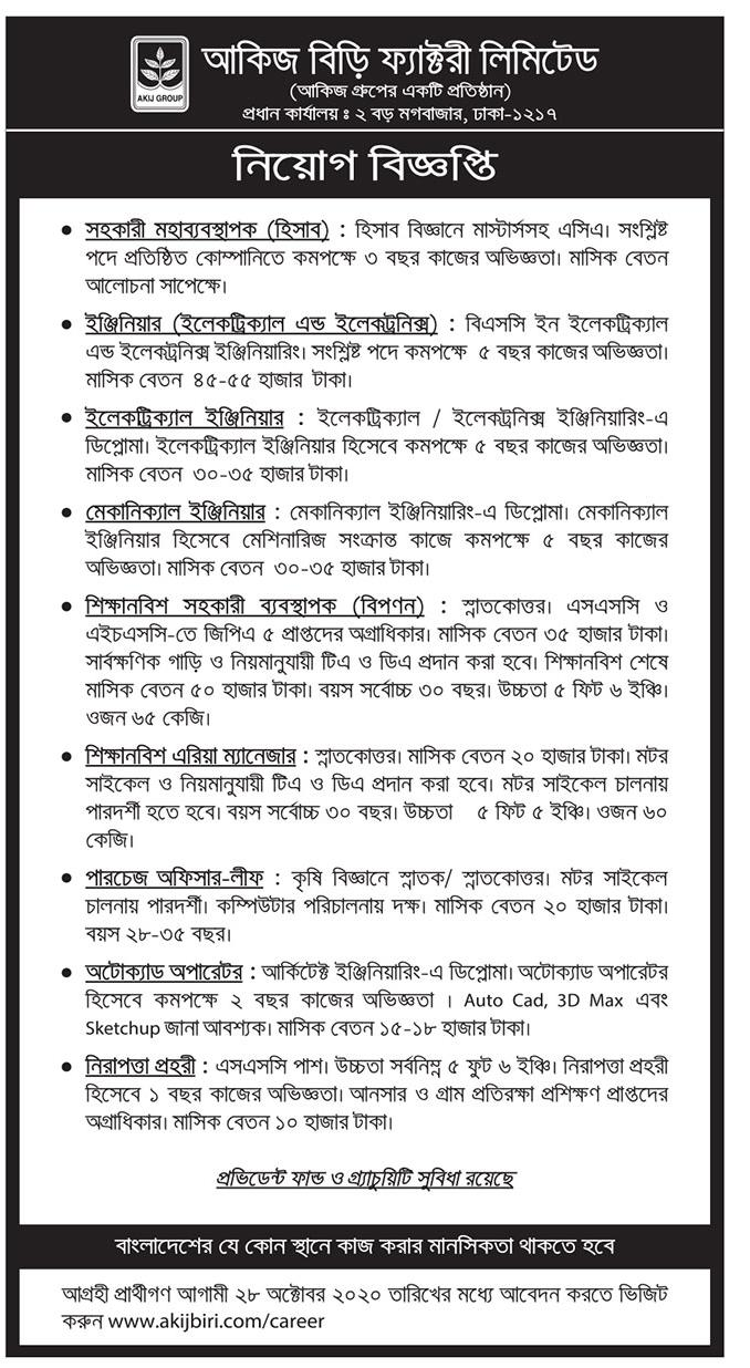 Akij Group Job Circular 2020 Application Online